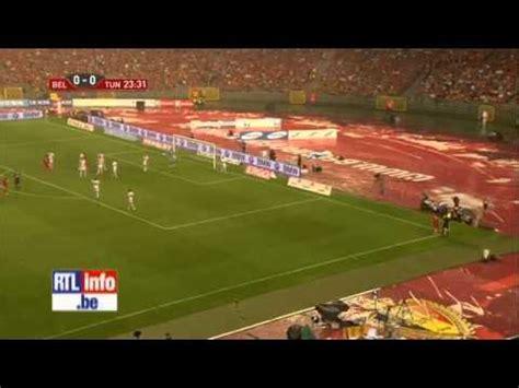 Belgique Tunisie Une 233 Norme Temp 234 Te De Gr 234 Lons A Interrompu Le Match