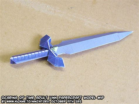 Master Sword Papercraft - papercraft oot menu link master sword test by