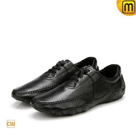 s loafers black s black leather driving loafers cw719023