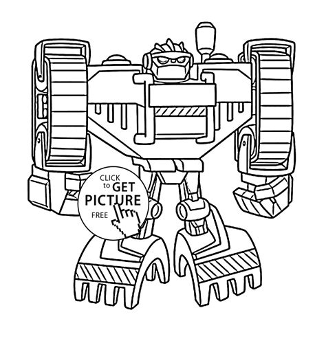 rescue bots coloring pages boulder bot coloring pages for printable free
