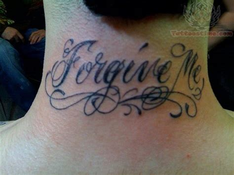 tattoo fonts neck forgive lettering on back neck