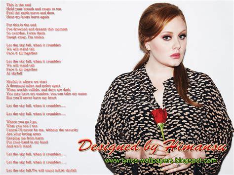adele skyfall lyrics lyrics wallpapers adele skyfall