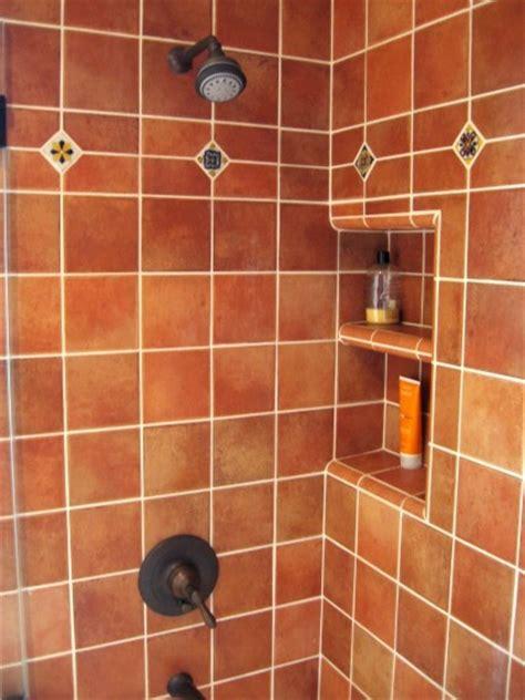 terracotta tiles bathroom terra cotta ceramic bathroom shower with talavera dots