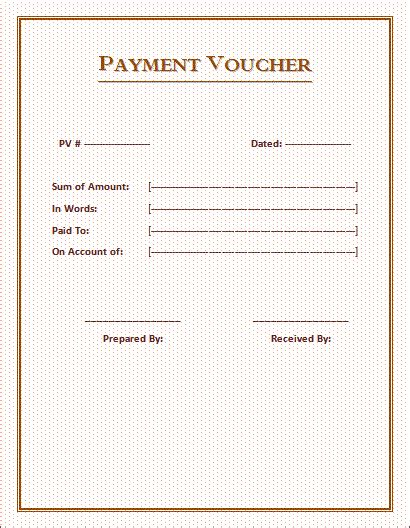 free voucher template 12 free word excel pdf documents