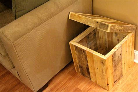 wood storage ottoman reclaimed pallet wood storage ottoman natural handmade