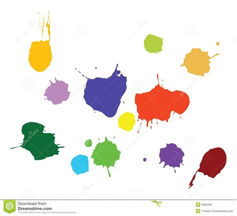 paint splat vector royalty free stock photos image 3865038