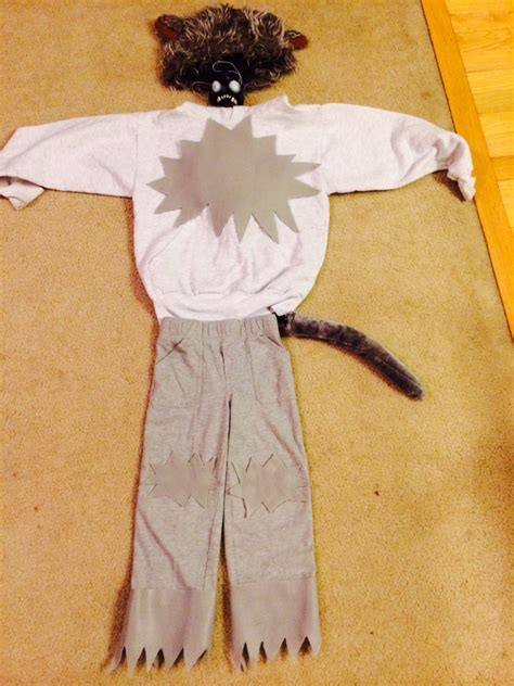 diy  sew wolf halloween costume motherhood support
