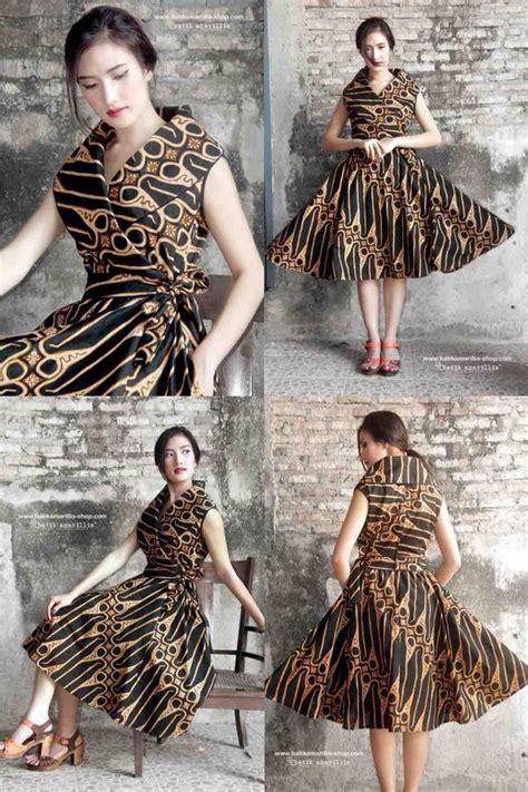 pin oleh liryza  batik pakaian wanita model baju