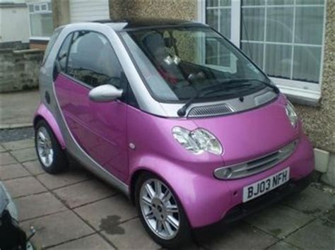 pink sparkly mercedes smart car pink silver glitter metallic paint