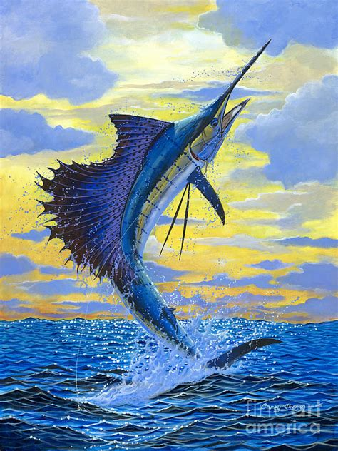 Fish Duvet Cover Sailfish Point Painting By Carey Chen