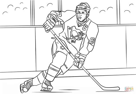 Hockey Coloring Pages Of Sidney Crosby | sidney crosby coloring page free printable coloring pages