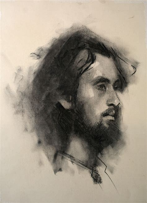 Sketches O Loughlin by Portrait In Charcoal By Alex Tzavaras 2010 Drawing