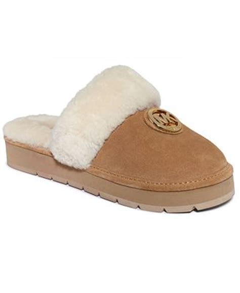 michael kors house shoes michael michael kors winter fur slippers shoes macy s