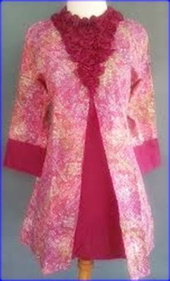 model baju batik kombinasi polosgamispestaterbaru