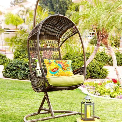 swingasan 174 light brown hanging chair pier 1 imports swingasan 174 chair stand mocha for the home pinterest