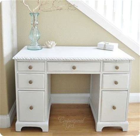 shabby chic white desk for computer porch window right