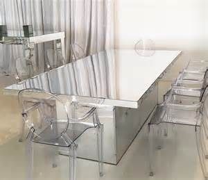 mirrored dining table acento