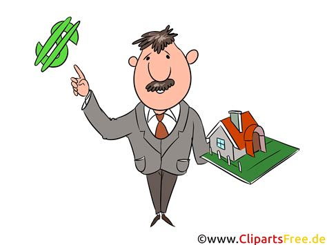 makler immobilien makler immobilien clipart illustration bild grafik gratis