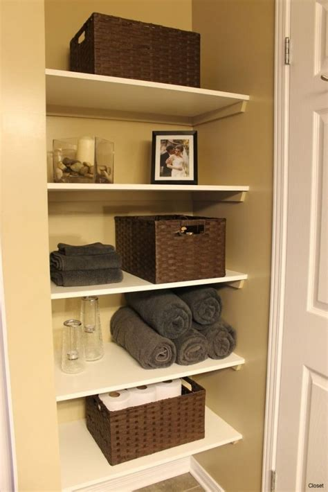 Closet Bathroom Ideas 50 awesome bathroom closet shelving ideas small bathroom