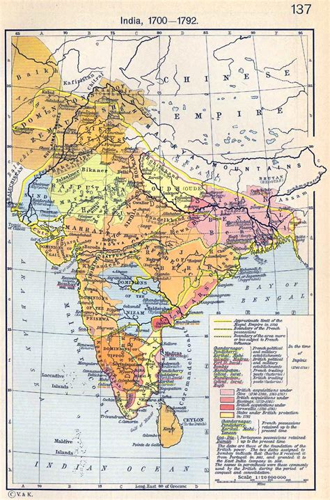 map us during 1700s map of india 1700 1792