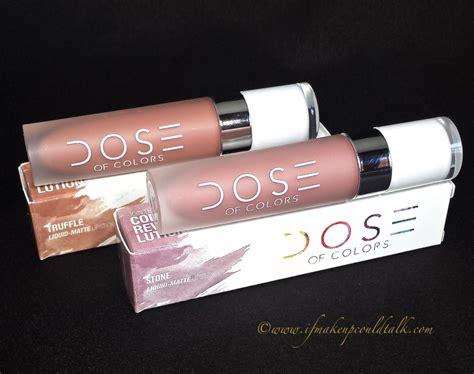 Lipstik Dose dose of colors truffle and matte liquid lipstick review swatches and lip combos if