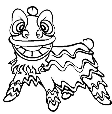 Chinese New Year Lion Dance Coloring Page | chinese new year lion dance coloring page chinese craft