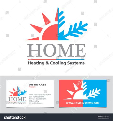 elegant pictures of air conditioning business cards