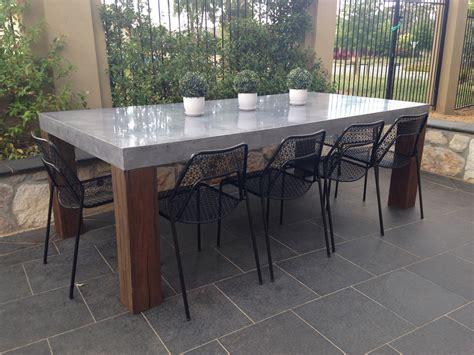 Elegant Concrete Outdoor Dining 33 In Interior