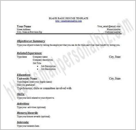 fill in the blank resume template for highschool students fill in the blank resume template for highschool students