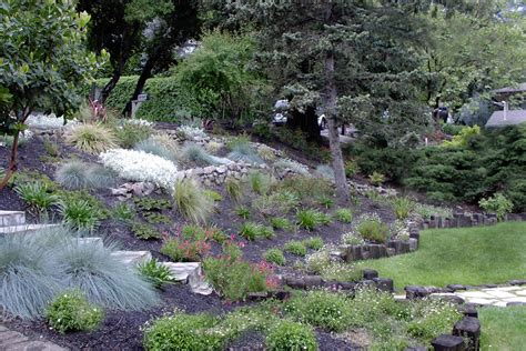 how to landscape a hill backyard landscaping hill house design with various herb