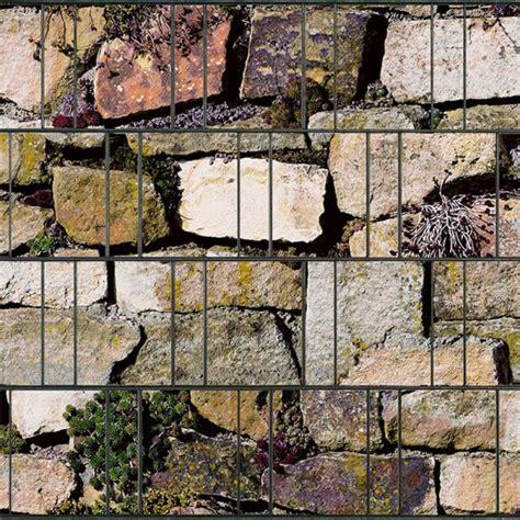 zaundruck de steingew 228 chse doppelstabmatten sichtschutzstreifen