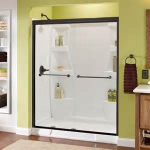 glass shower doors at home depot delta mandara 59 3 8 in x 70 in bypass sliding shower