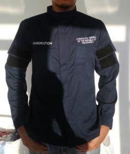 F5107 Kaos Pria Workshop Navy seragam kerja lapangan pilihan seragam kantor lapangan