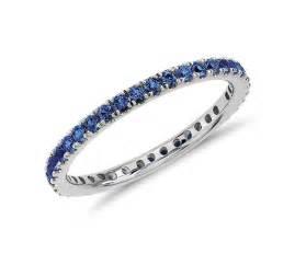 Sapphire Infinity Ring Riviera Pav 233 Sapphire Eternity Ring In 18k White Gold