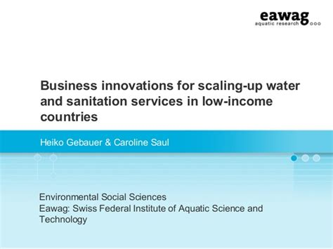 low income light company business innovations for scaling up water and sanitation