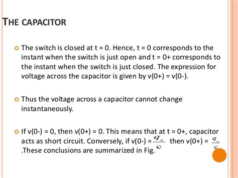 voltage across capacitor does not change instantaneously initial condition