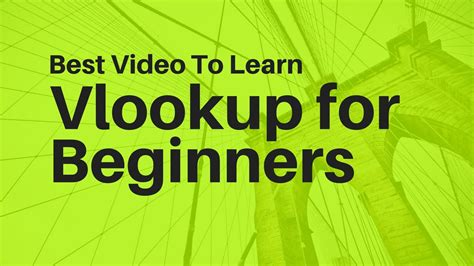 learn vlookup online free learn vlookup formula for beginners in excel youtube