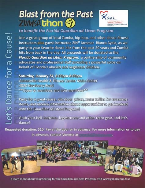 Blast From The Past Tb 06 Posts To Remember by Zumbathon Benefits Florida Guardian Ad Litem Program Jan