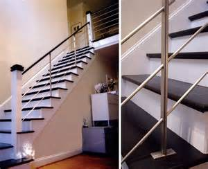 black and white color themes modern style interior stair