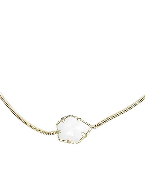 Mara Pendant Necklace in White Pearl   from Kendra Scott