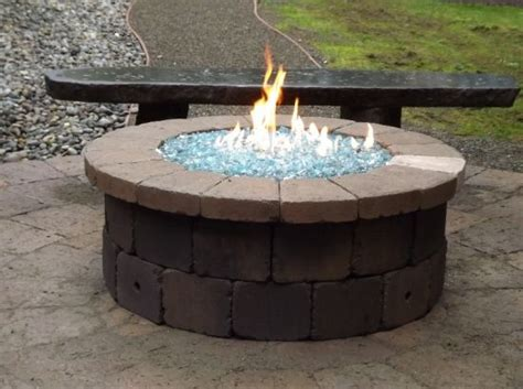 17 Best Images About Do It Yourself Block Fire Pit Propane Glass For Pit