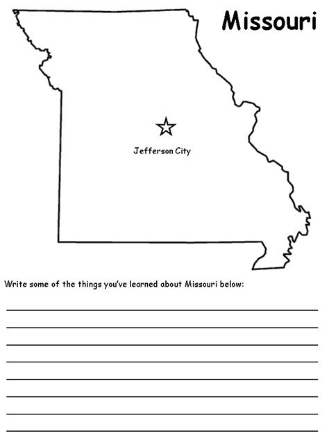 Coloring Map Of Missouri Pictures To Pin On Pinterest Missouri State Flag Coloring Page