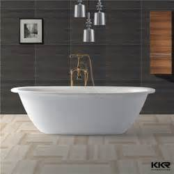 solid surface tub surround freestanding tub view