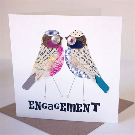 how to make engagement cards personalised bird engagement card by pratt factory