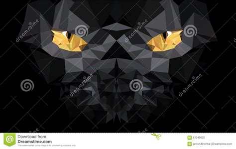 wallpaper poly cat low poly cat stock vector image 61349620