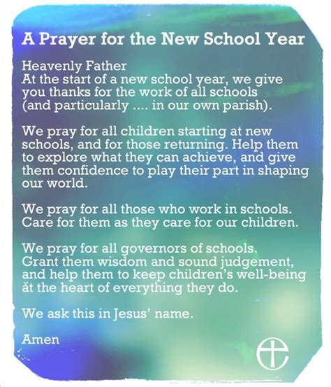 prayer for the new school year the world s catalog of ideas