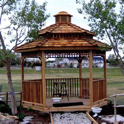 Cupola Kit by Hexagon Cedar Gazebo Kit 8ft W86