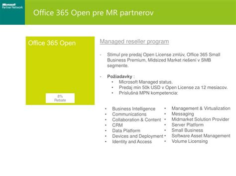 Office 365 Volume License Ppt Microsoft Partner Network Mpn Zmeny V Mpn Pre Fy14