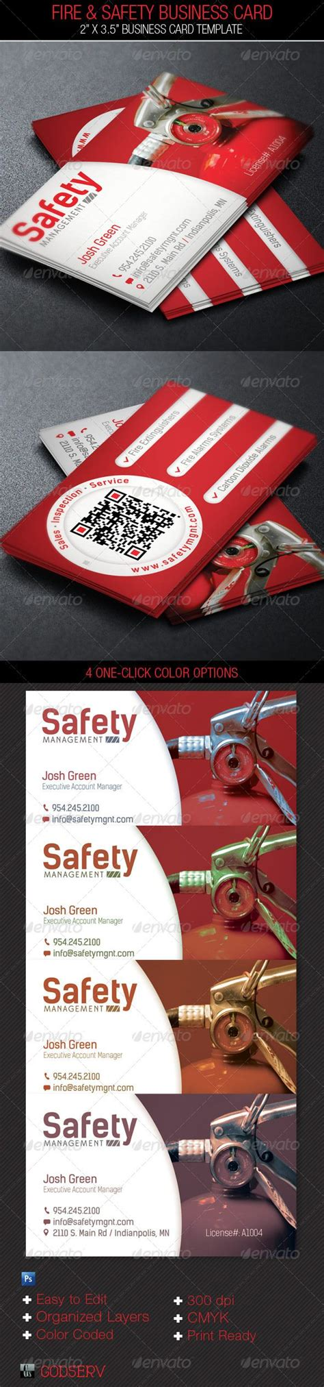 acidflyers business card template safety service business card template card