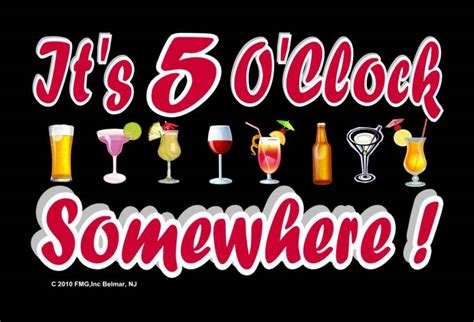 Its 5 Oclock Somewhere by February 6 After Five Sip Advisor